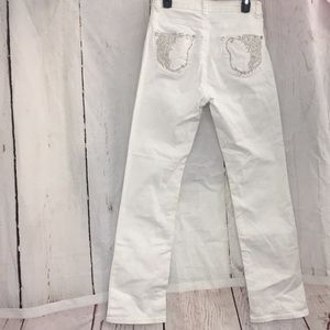 "Reba White Jeans New without tags Sz 10 32"" inseam"